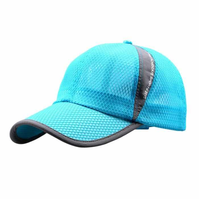 Men women outdoor boné de beisebol unis férias sol sombra chapéu de ventilação rápida secagem chapéus de verão respirável macio pai bonés osso