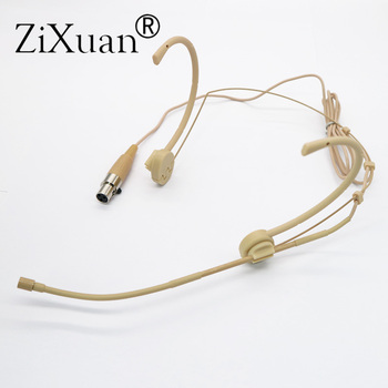 Free Shipping Mini XLR 3pin TA3F Connector Pro Headworn Headset Microphone for AKG Samson Wireless Body-Pack Transmitter