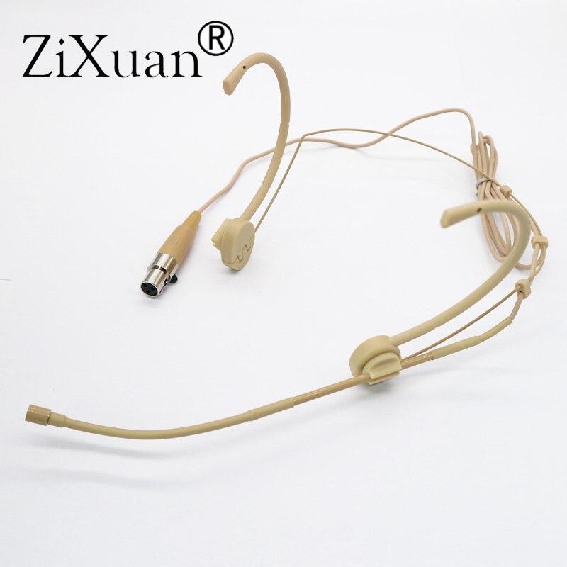 Livraison gratuite Mini XLR 3pin TA3F connecteur Pro casque porté Microphone pour AKG Samson sans fil Body-Pack transmetteur