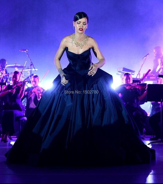 First Annual Diamond Ball Rihanna Dress Ball Gown Ruffle Luxury Red ...