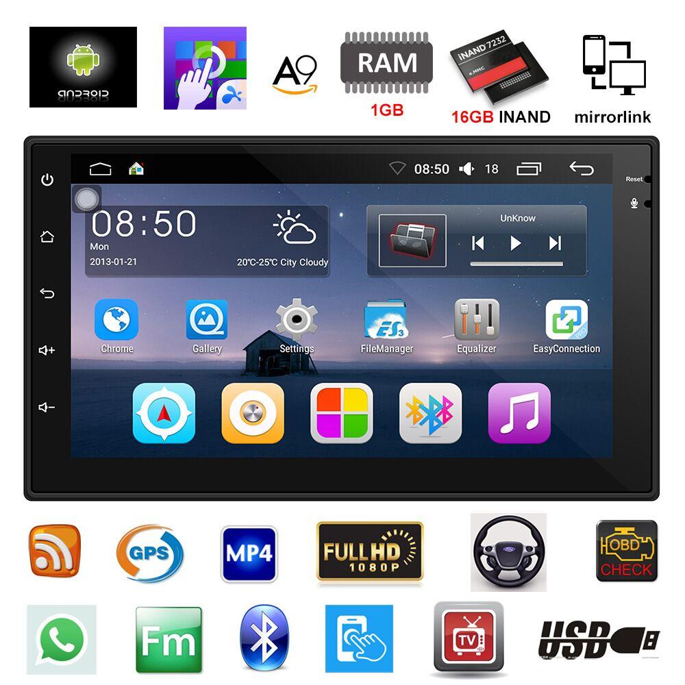 2 Din Autoradio GPS Navigation Android 6.0 Auto Audio Player Touchscreen Quad Core autoradio USB Bluetooth Spieler Autoradio