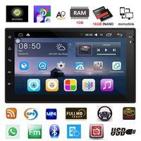 2 Din Autoradio di Navigazione GPS Android 6.0 Car Audio Player Quad Core Touch Screen Auto Lettore radio Bluetooth USB Autoradio