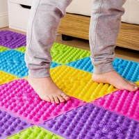 29*39cm Explosion Pebbles Foot Massage Pad Shiatsu Blanket Yoga Mat Game Props
