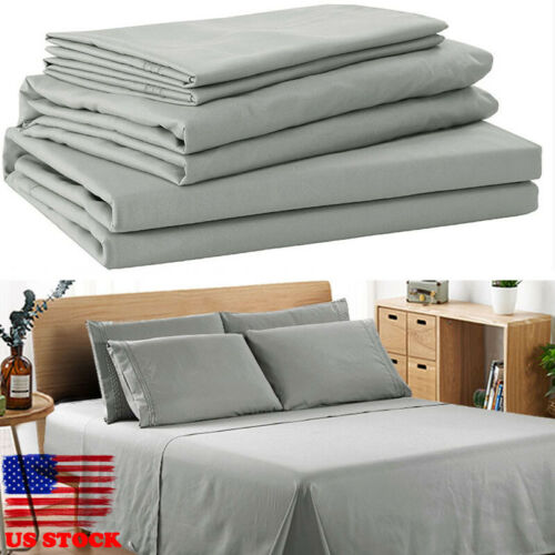 4 Piece Deep Pocket Bedding On Sale 1800 Count Egyptian Comfort Sheet Set