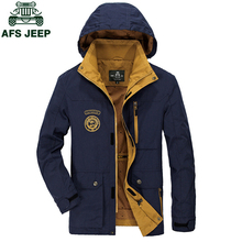 ZHAN DI JI PU AFS JEEP Autumn Army Military Winter Jacket Men Casual Hooded Collar