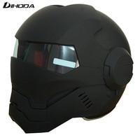 Masei 610 ABS Matte Black Mens Womens IRONMAN Iron Man Helmet Motorcycle Helmet Half Helmet Open