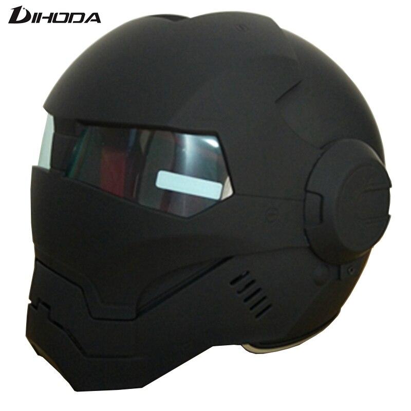 Masei 610 ABS Mat Noir Hommes femmes IRONMAN Iron Man casque casque de moto demi-casque casque ouvert casque de motocross
