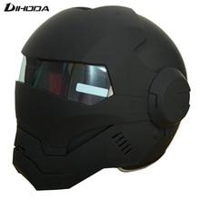 Masei 610 ABS Матовый Черный Мужские Женские IRONMAN железный человек шлем мотоциклетный шлем половина шлем с открытым лицом шлем мотокросс