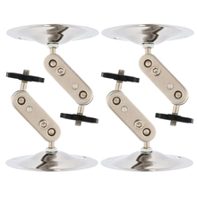 2 Packs Silver Metal Wall Ceiling Mount Stand Bracket for CCTV Security IP Camera 4pcs