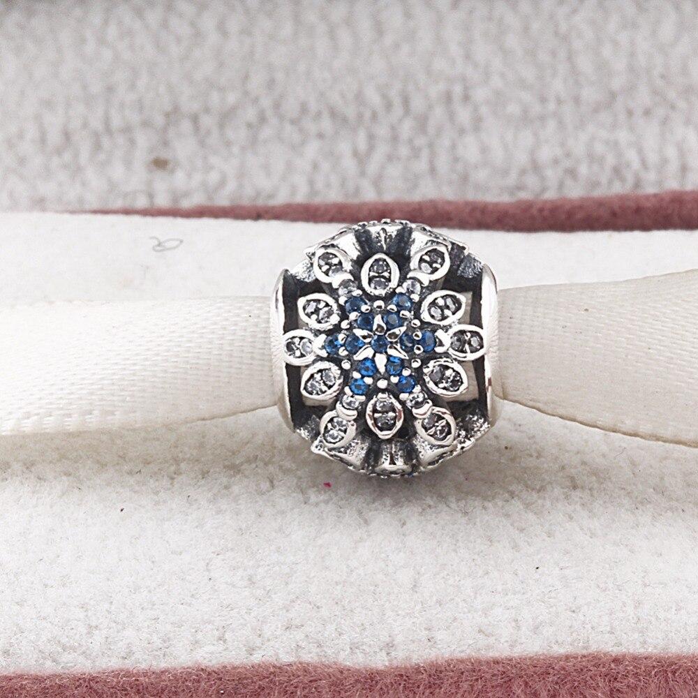 ZMZY Vintage Beads Fits Pandora Charm Bracelet Original 925 Silver CZ Flowers Hollow Silver Beads Women Jewelry Wholesale
