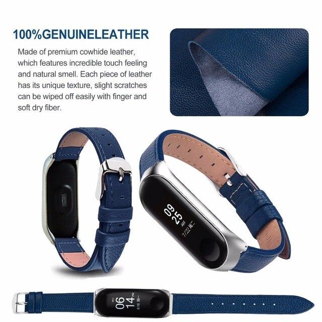 Bracelet for Xiaomi Mi Band 6 5 4 leather Strap Replacement Wristband MiBand 6 4 band5 Wrist Strap for xiaomi Mi Band 4 3 strap 5