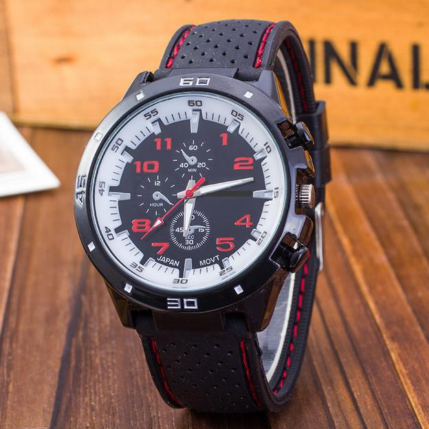 Racing Men Sports Watches Luxury Brand Grand Touring GT Watch Silicone Mens Army Quartz Military Wristwatch Women Fashion in Quartz Watches from Watches