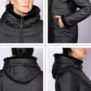 Image 5 - Hotsaleの冬のジャケットの女性ショートフード付きプラスサイズ暖かい袖口毛深い女性ジャケットたてがみ服ウクライナジャケットam 2059
