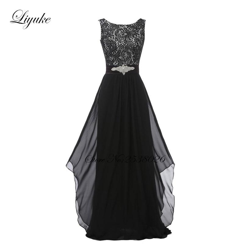 Liyuke krajka s šifónem družiček šaty formální šaty - Šaty pro svatební hostiny - Fotografie 5