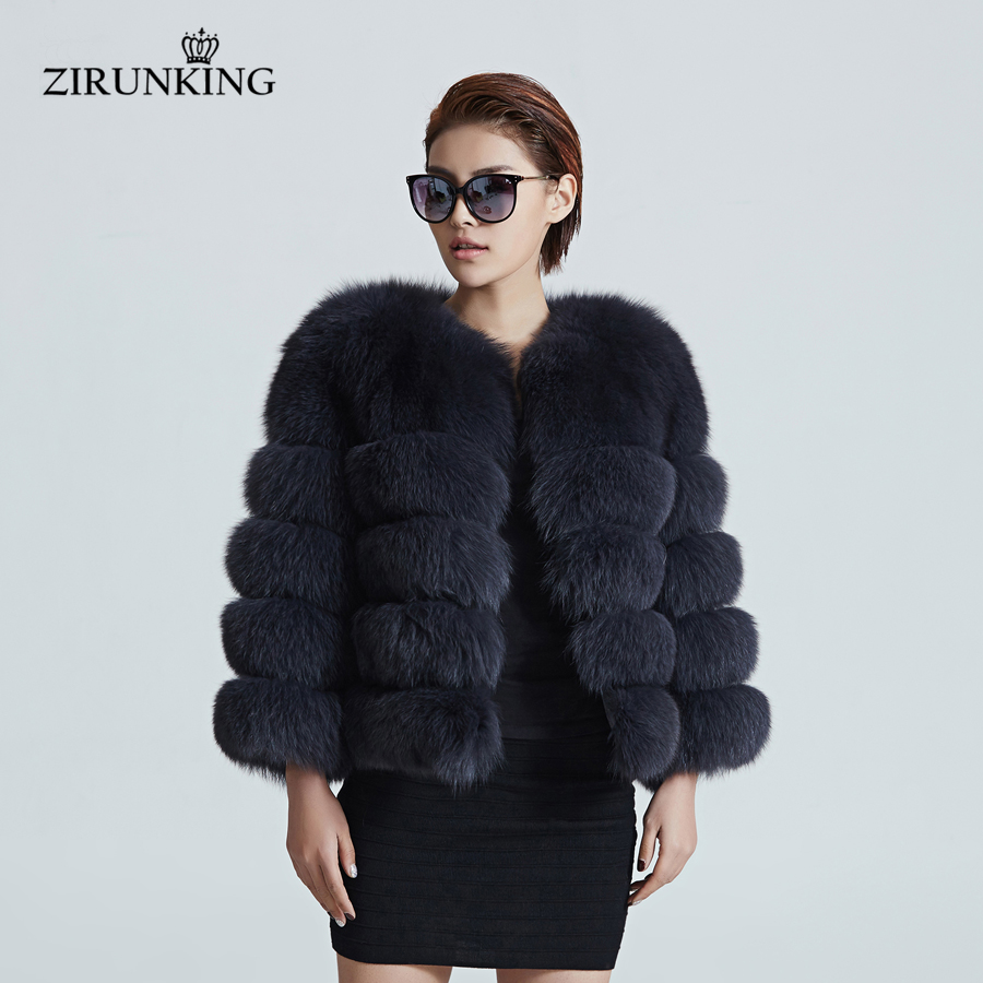 Aliexpress.com : Buy ZIRUNKING Women Warm Real Fox Fur Coat Short ...