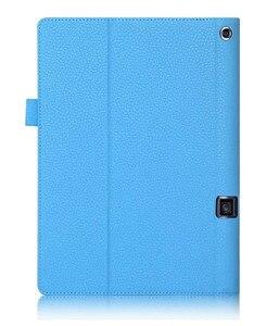 Image 5 - Lichee padrão yoga tab 3 mais suporte caso de couro do plutônio para lenovo yoga tab 3 pro 10 x90 x90f x90l capa de couro YT X703L x703f