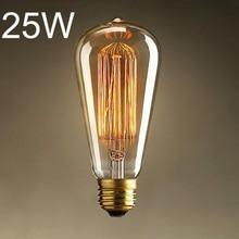 Brand New Big Promation High Quality E27 25W Incandescent Bulb 220V ST64 Retro Edison Light Bulb