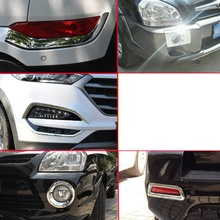 Lsrtw2017 Abs Car Foglight Front Rear Frame Trims for Hyundai Tucson 2004-2018 car body kits front foglight trims car sticker for honda civic 2017 abs chrome