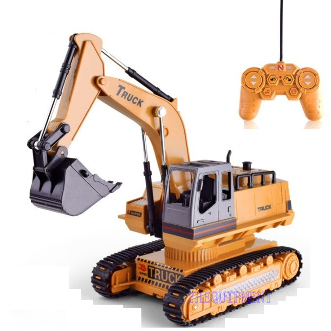 цена на RC Truck toys for children gift present with electric remote control FORKLIFT engineering model