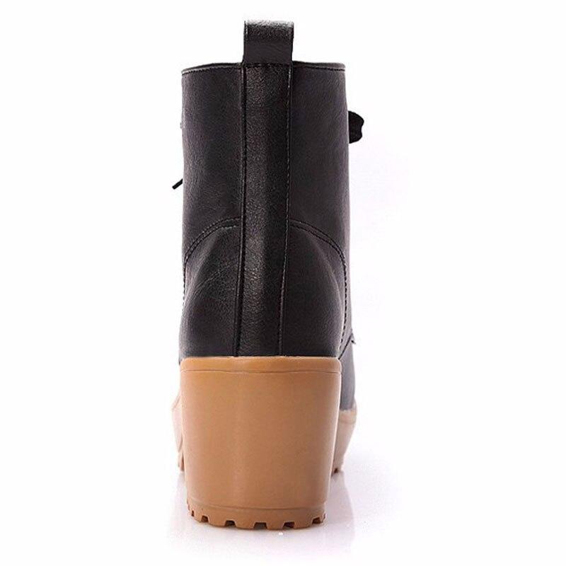 black Quatre Talon Carré Femmes Bottes Chaussures 2017 Femme Beige Grand Automne brown Haute Solide Cheville De Mode Couleurs formes Hiver apricot Xwx447 Hee Plates Tqz1Evx