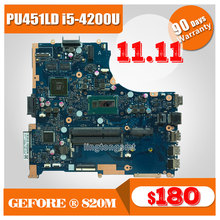 Original For ASUS Laptop Motherboard PU451LD PU451 PU451L i5 CPU 1G video memory PU451LD REV2.0 motherboard 100% tested