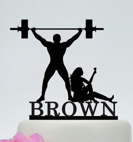Online Shop Personalized Drunk Bride And Weight Lifting Groom Funny