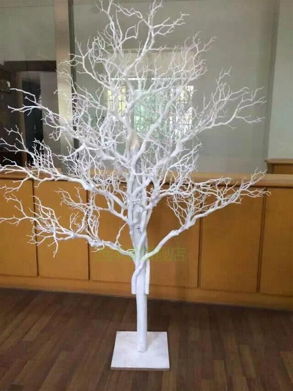 custom simulation modeling tree twig white wedding festival fake