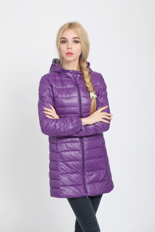 2018 Новый Для женщин бренд Подпушка куртка ультра легкий Куртка–пуховик на 90% белом утином пуху Женская куртка с капюшоном плюс Размеры Портативный Парка на пуху