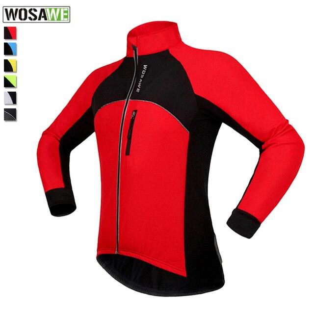 US $30.0 20% OFF|Wosawe Radfahren Jersey Winter Bike Kleidung Fleece Thermische Winddicht Ciclismo Radfahren Tragen Jacke Strick mtb Fahrrad Jersey in