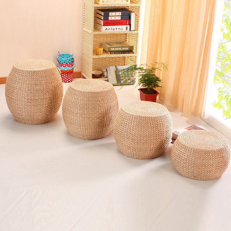 Awesome Us 29 29 12 Off Straw Handmade Cushion Living Room Change Shoes Stool Living Room Coffee Table Sofa Extension Foot Stool Children Toy Stool In Gamerscity Chair Design For Home Gamerscityorg