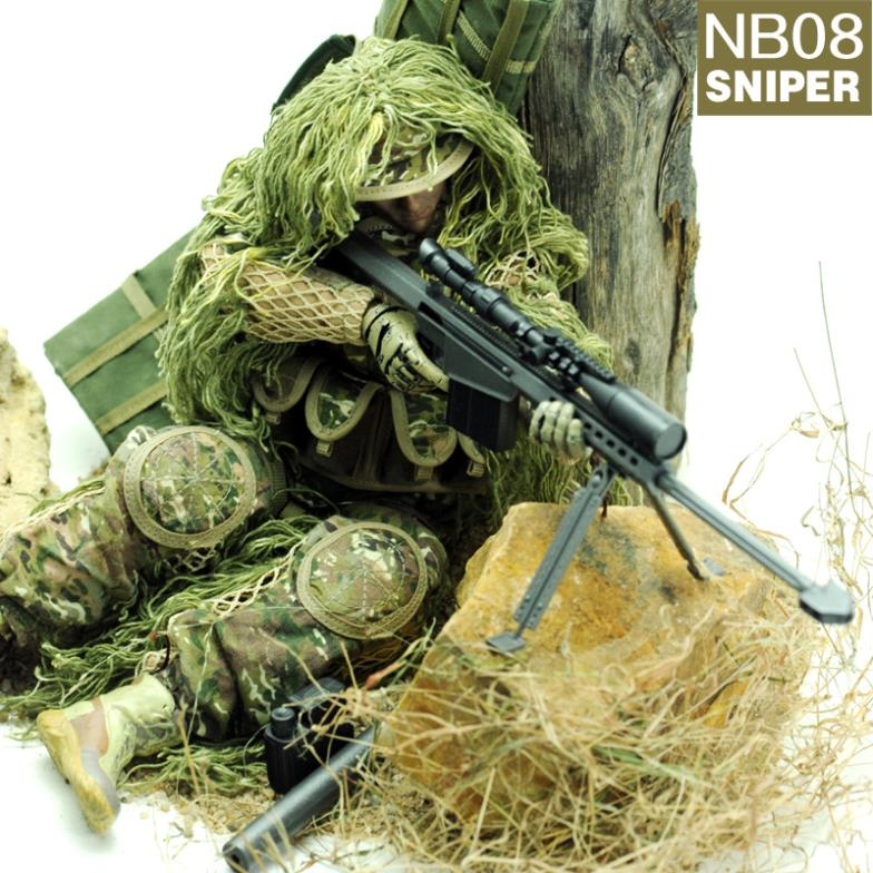 все цены на 12'' action figure Sniper plastic military toys 1/6 soldier model collectible toy soldiers set онлайн