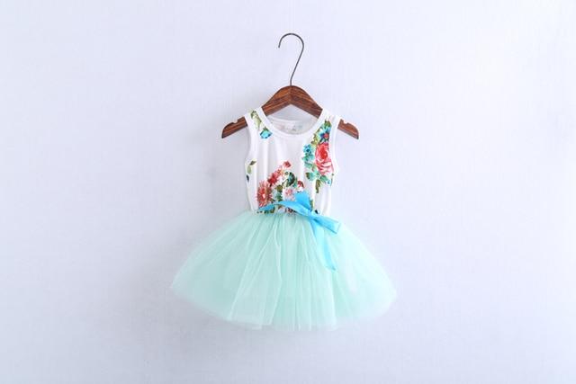 Girls floral tutu dress summer Children baby kids tulle wholesale clothes  1ES505DS-51R   [Eleven Story]