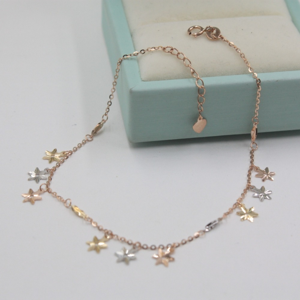 pure and chain choose free white bracelet anklet lot the style bead shiny ajsicph elegant of shipping anklets gold ankle charm