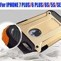 Para iphone 7 plus 6 más 6 s 5S sí case armor tough fuerte prueba de caída de neo hybrid pc + tpu de silicona case para iphone 7 ip706