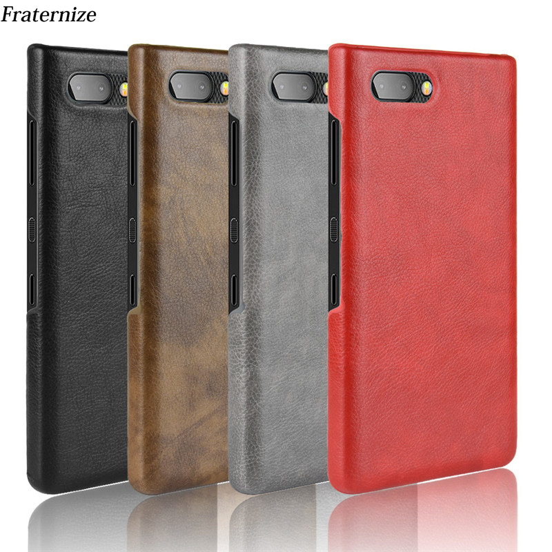 Vintage Leather Case For Blackberry key2 Q20 Q30 KEYone dtek70 Priv Ultra Thin Hard Back Cover Protective Shockproof Phone Cover(China)