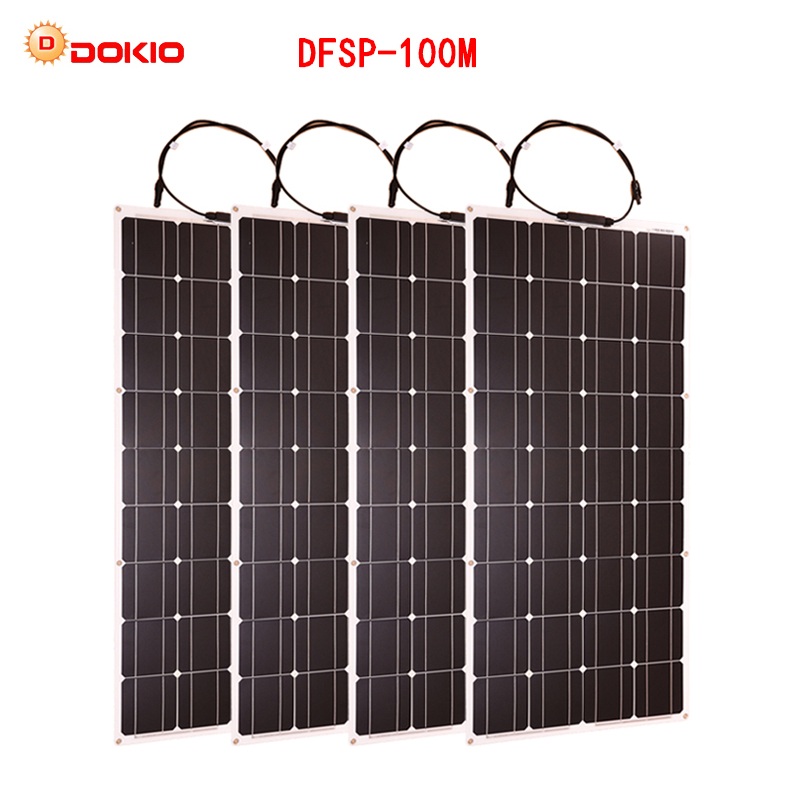 Dokio-Flexible-Solar-Panel-100W-Monocrystalline-Solar-Cell-200w-400w-600w-800W-1000W-Solar-Panel-Kit