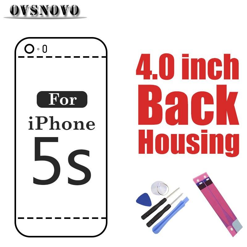 Chasis para iPhone 5S contraportada de metal reemplazo batería puerta trasera marco personalizar IMEI etiqueta herramienta