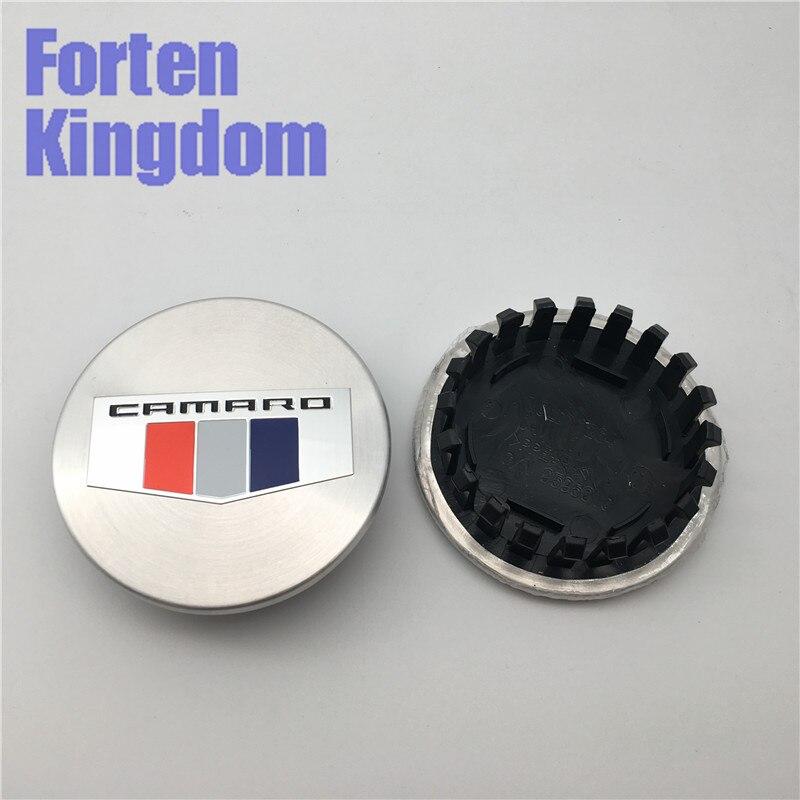 Aktiv Forten Königreich 4 Stücke 67mm Wort Camaro Logo Silber Auto Abs Legierung Custom Rim Hub Rad Center Center Caps 19351757 9595010