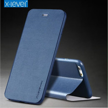 X-Level Ultra Thin Leather Flip Phone Case For iPhone