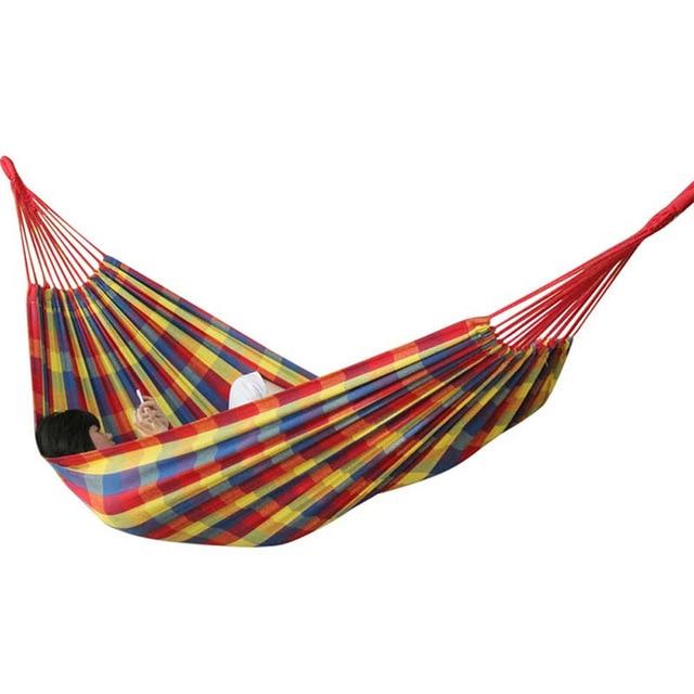 07f45c18d De gran tamaño 2 Persona Hamaca que acampa Portable jardín playa viajes  hamaca al aire libre