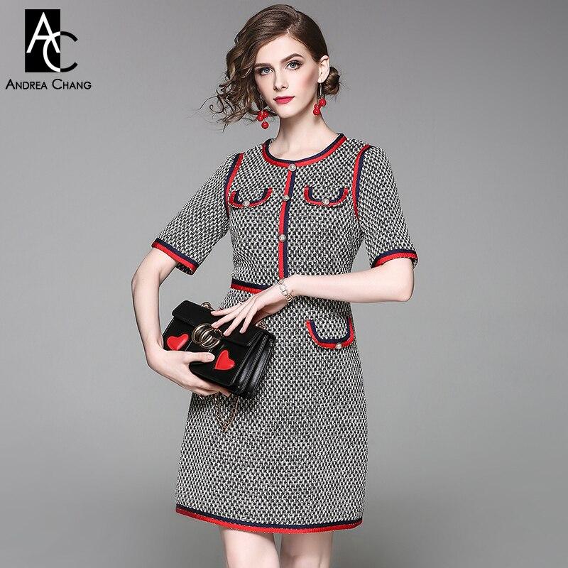 reputable site d4d2b 63699 Primavera Pulsante Pattern Lavoro Rosso Plaid Moda Che Donna ...