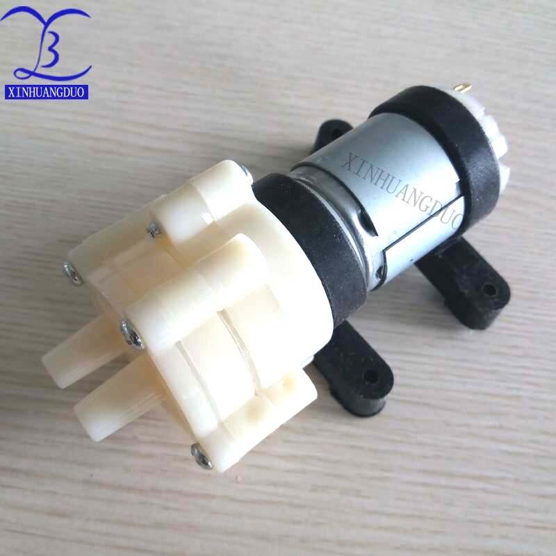 R385 12 V Dc Membran Pumpe Elektromagnetische Herd Wasserkocher Pumpt Wasser Aquarium Kleine Micropump Pumpen Heimwerker 1,5-2l/min