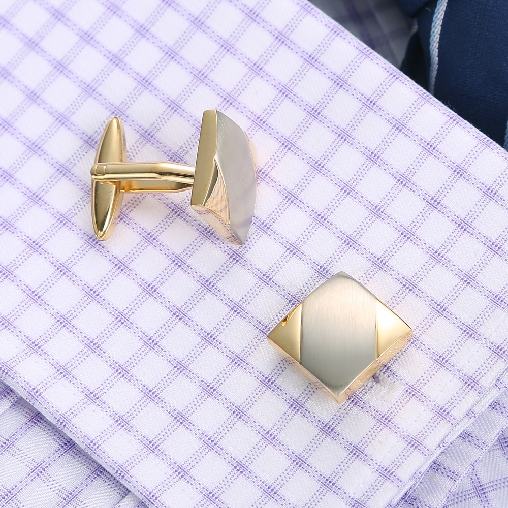 QiQiWu Cufflinks For Mens Shirt Silver High Quality Wedding Mens Cufflinks Cuff links Men Cufflinks Gold Men Cuff Buttons Cuff in Tie Clips Cufflinks from Jewelry Accessories
