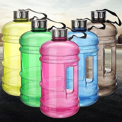 2L Big BPA Free Gym Sport Training Drink Water Bottle Kettle Cup with Handle Cap