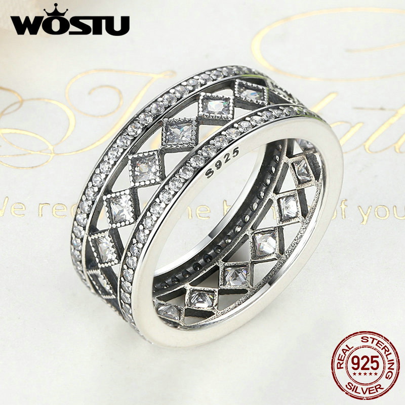 High Quality Real 925 Sterling Silver Vintage Fascination Ring For Women Original Brand Ring S925 Jewelry FB7601