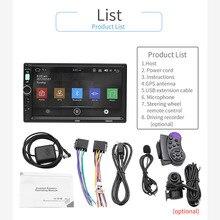 Двойной Din 7 дюймов Экран автомобиля MP5 мультимедийный плеер Радио Bluetooth gps WI-FI FM 7 цветов Подсветка Поддержка заднего вида камера SWC