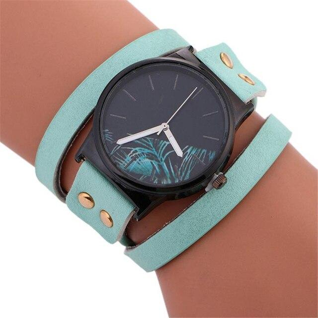 Women's bracelet watch Stylish Simplicity Leather Bracelet Lady Womans Wrist Watch Relogio de pulseira feminina #502