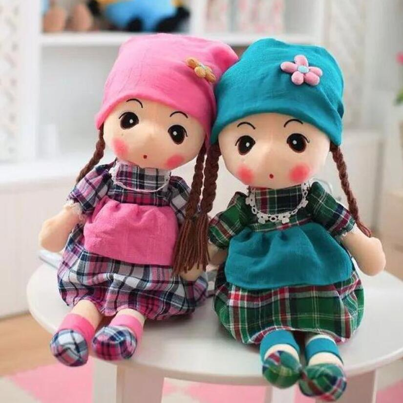 Free Shipping 45cm 5 Colors Stuffed Doll Mayfair Plush Toys Beautiful Dolls for Girls Best Gift For Kids