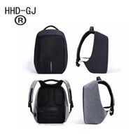 HHD GJ Brand 15.6 Men Laptop Backpack External USB Charge Antitheft Computer Backpacks Male Waterproof Bags Tigernu Anti theft