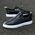 Summer Fashion Flats Shoes Men 2017 Unique Men Shoes Zip Black Casual Shoes Lace up Male Walking Shoes Zapatillas Hombre B17